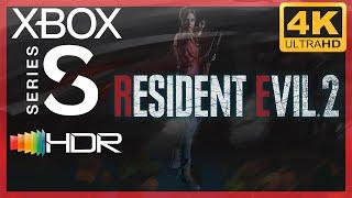 [4K/HDR] Resident Evil 2 (2019 Remake) / Xbox Series S Gameplay