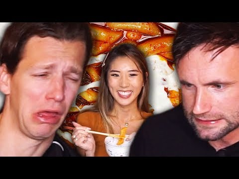 Germans SPICY RICE CAKE CHALLENGE (YUPDDUK) · YB vs. Food