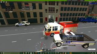 Roblox gameplay || NYC police sim #5 || NYFD!