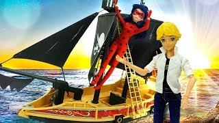 Леди Баг и Эдриан на пиратском корабле! Видео с игрушками.