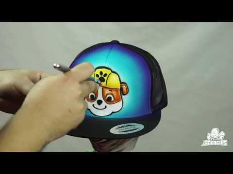 Chino Stencils - Airbrushing Rubble from Paw Patrol