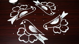 Birds Kolam Designs With Easy Dots Free Online Videos Best Movies