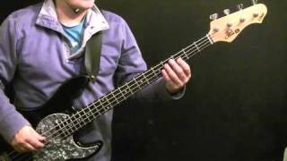 How To Play Bass Guitar To Can't Buy Me Love - Beatles - Paul McCartney