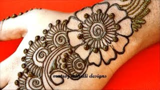 Latest Arabic Henna Designs For Hands Simple Arabic Henna Mehndi