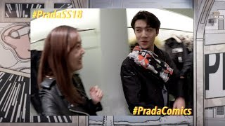 MEETING EXO SEHUN!   Prada Comics Cocktail Party in Seoul