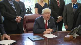 President Trump Leads a Signing Event Regarding the Trade Expansion Act