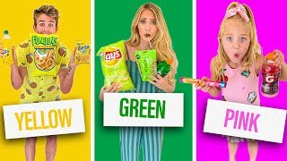 EATING ONLY ONE COLORED FOOD FOR 24 HOURS