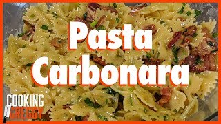 How To Make Pasta Carbonara (with Josh Macuga)   Cooking With Greggy