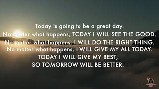 TUESDAY MORNING AFFIRMATION: Quote A Powerful Morning Motivational Speech