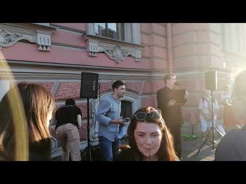 #Питерчитаетстихи# Пригласили выступать. Невский 41. 17авг.2019г.