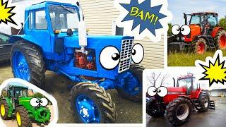 ВЛОГ Мы нашли его! Так выглядит синий трактор в реальной жизни Видео для детей VLOG