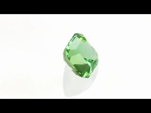 Stunning Asscher Cut Mint Tourmaline Loose Stone For Sale In 7.7 Mm, 2.78 Carats