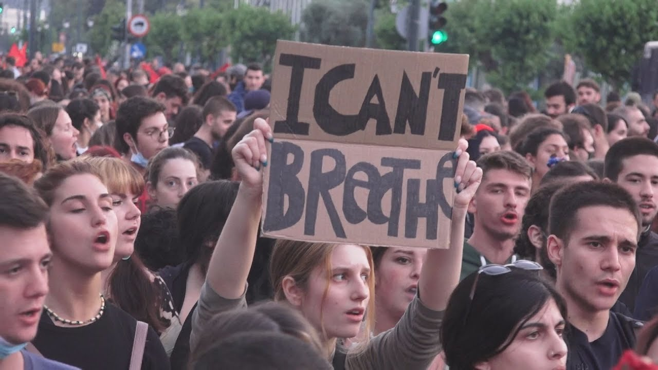 Διαδήλωση για την δολοφονία του Τζορτζ Φλόιντ στην Αθήνα