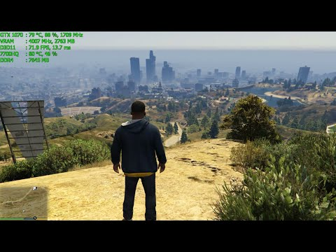Grand Theft Auto V | i7 7700HQ & GTX 1070 Laptop Gaming Test | MSI GE72MVR
