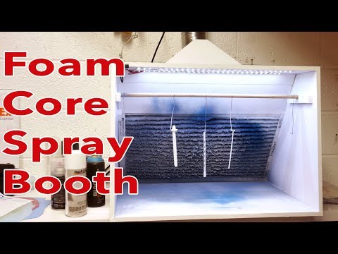 FoamCore model making Hobby Spray Booth work shop or craft area for under $200