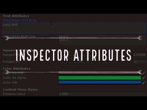 Improve your Unity3D Inspector with Attributes - YouTube