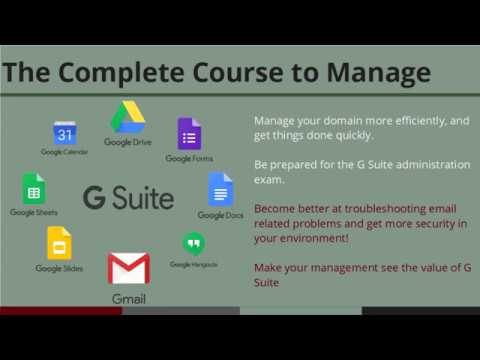 G Suite administrator course - Intro to Admin Console and how to ...