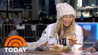 Chloe Kim Eats Churros Made Especially For Her After Winning Gold At The Winter Olympics   TODAY