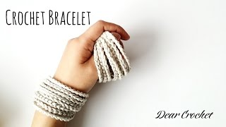코바늘 팔찌 만드는 방법 (Crochet Bracelet)