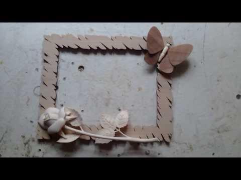 Креативная рамка под фото. Резьба по дереву - роза.