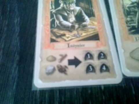 Pillars of The Earth the card game - rules and components overwiev