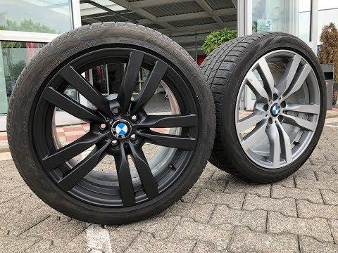 Felgen Folieren BMW X6 M mit Foliatec Sprühfolie Schwarz Matt
