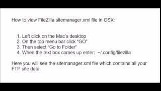 How to view FileZilla sitemanager.xml file in OSX