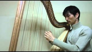 """하프 연주 """"섬집아기"""" 자장가 Cross-strung Harp. Lullaby """"Island Baby"""""""