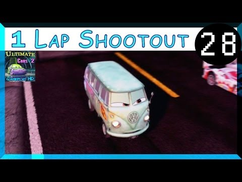 Fillmore Bus PS3 Cars 2 Racing Hard Difficulty One Lap Shootout Radiator Sprint Part 28
