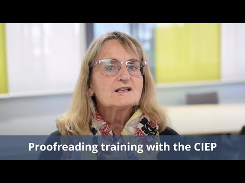 Proofreading training with the CIEP - YouTube