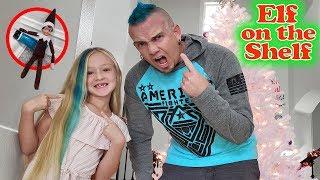 Evil Elf Chucky Pranks Dad & Dyes His Hair Blue!! Elf On The Shelf Day 4!