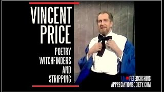 Vincent Price : STRIPPING, EDGAR ALLAN POE AND WITCHFINDERS. DAVID FROST 1970