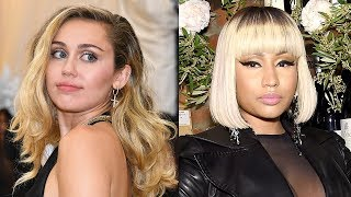 "Miley Cyrus DANCES to Nicki Minaj + Nicki TEASES ""Bed"" Music Video"