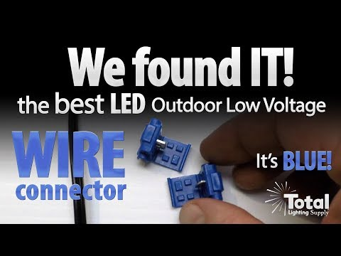 We found IT! Best LED outdoor low voltage wire connector its BLUE