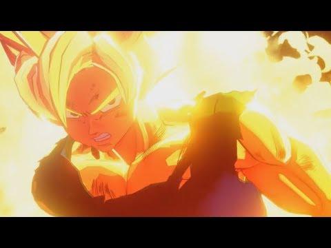 Dragon Ball Z Kakarot - Goku goes Super Saiyan for the First Time Cutscene! (HD)