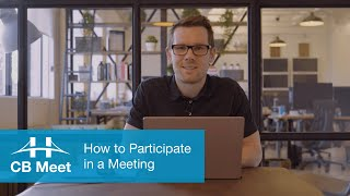 How to Participate in a Meeting with CB Meet