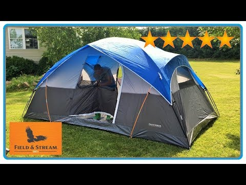 TENT REVIEW – HUGE 8'X14′ FIELD & STREAM 8 PERSON CAMPING TENT