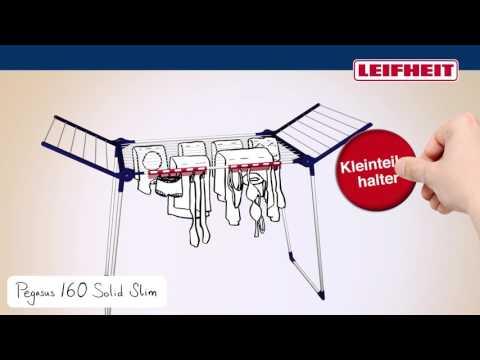 Leifheit Standtrockner Pegasus 160 Solid Slim (German)