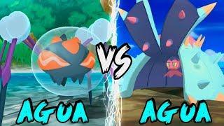 Araquanid  - (Pokémon) - Monotype AGUA VS Monotype AGUA | ARAQUANID ESTRATEGIA MANTO ESPEJO | POKÉMON SOL Y LUNA MONOTYPES