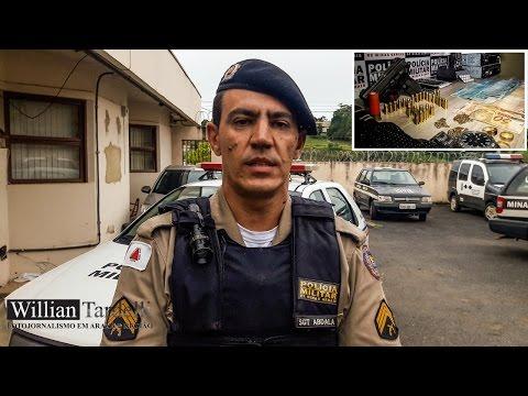 Autores de assalto a caminhoneiro em posto de combustível em Perdizes, são presos em Araxá.