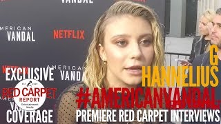 G Hannelius interviewed at Netflix Premiere of American Vandal #NowStreaming