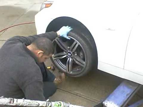 """BMW E60 530xi  19"""" M6 Style wheels installation by Cartreats"""