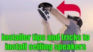 How to install flush mount speakers in ceiling dry wall