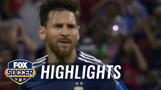 Messi breaks scoring record with fantastic free kick | 2016 Copa America Highlights