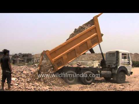 Weigh Bridge In India, For Weighing Trucks With Recyclable Waste In Them