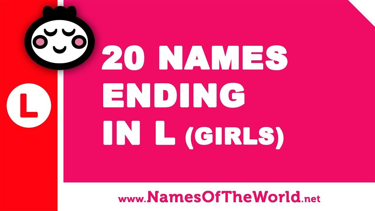 20 girl names ending in L - the best baby names - www.namesoftheworld.net