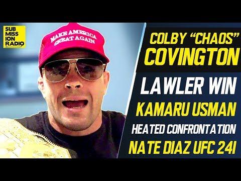 Colby Covington Takes Kamaru Usman Trash Talk to Another Level, Recaps Robbie Lawler Win