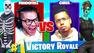 1V1 MINDOFREZ VS CHRIS!!! BIGGEST FIGHT OF THE YEAR IN FORTNITE BATTLE ROYALE! YOU WONT BELIEVE IT..
