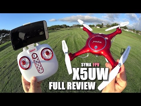 SYMA X5UW FPV Camera Drone - Full Review - [UnBoxing, Inspection, Setup, Flight Test, Pros & Cons]