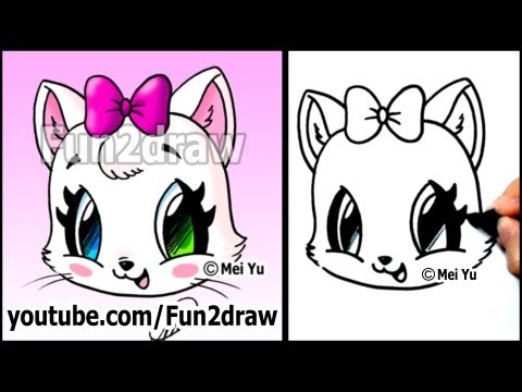 Fun2draw cat face fun2draw stars by the funny drawers for Fun to draw people